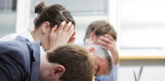 Gelangweilte Seminarteilnehmer
