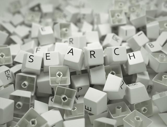 Tastatursteine mit der Aufschreift Search