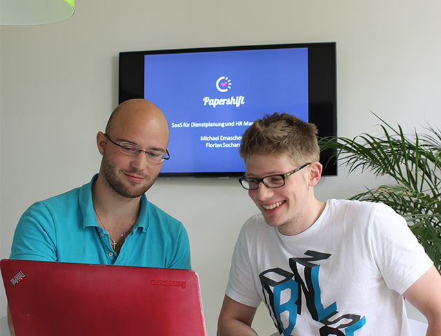 Michael und Florian von Papershift