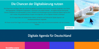 digitale Agenda Deutschlands
