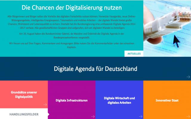 digitale Agenda Deutschlands