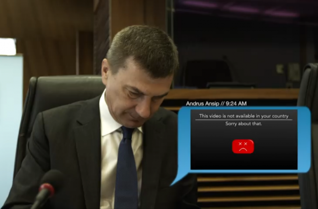 Andrus Ansip, Vize-Präsident Digital Single Market, kämpft mit aktuellen Restriktionen