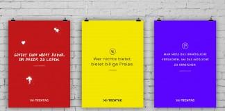 Motivationsposter mit deutschen Zitaten