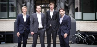 Die Geschäftsführer von CareerTeam, ganz links Nicolàs Boldt, ganz rechts Ole Mensching.