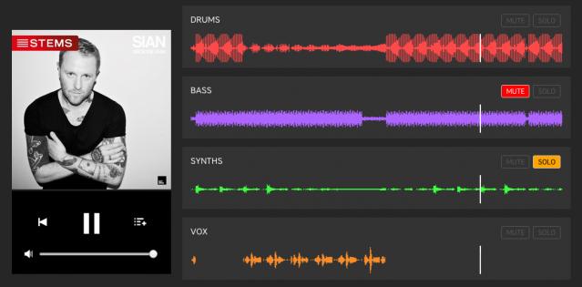 Testobjekte: Im Beatport-Store lassen sich die einzelnen Stem-Teile testen