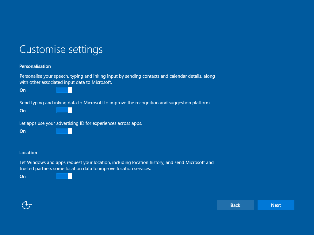 Windows 10 Datenschutz Personalisierung