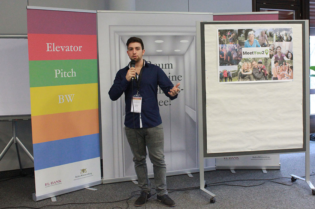 MeetYou2 beim Elevator Pitch BW