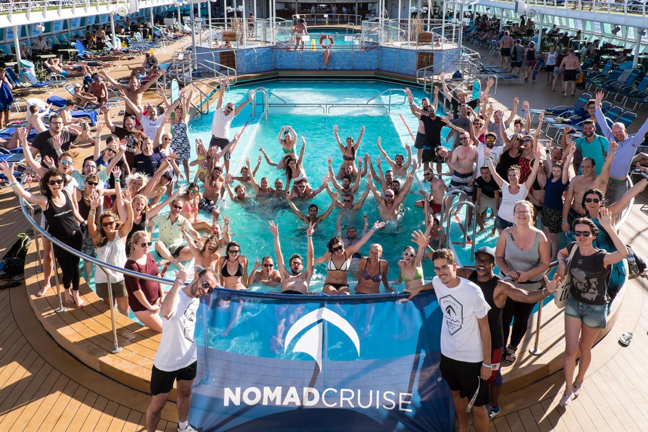 Die Reisegruppe der Digitalen Nomaden auf dem Kreuzfahrtschiff