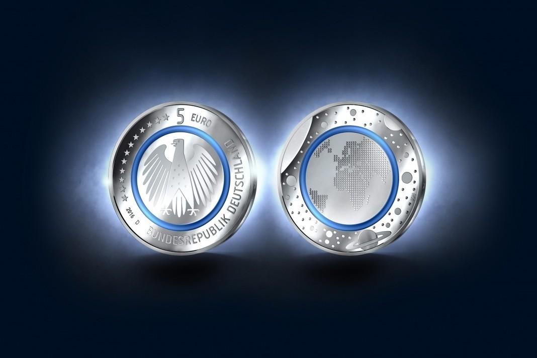 Fünf Euro Münze Innovativer Heiermann Aus Karlsruhe