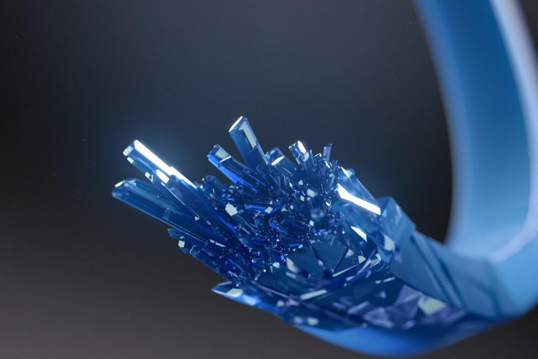 Weltneuheit: Das Polymer – eigentlich ein Kunststoff –kann wie Metall geprägt werden. (Bild: VfS)
