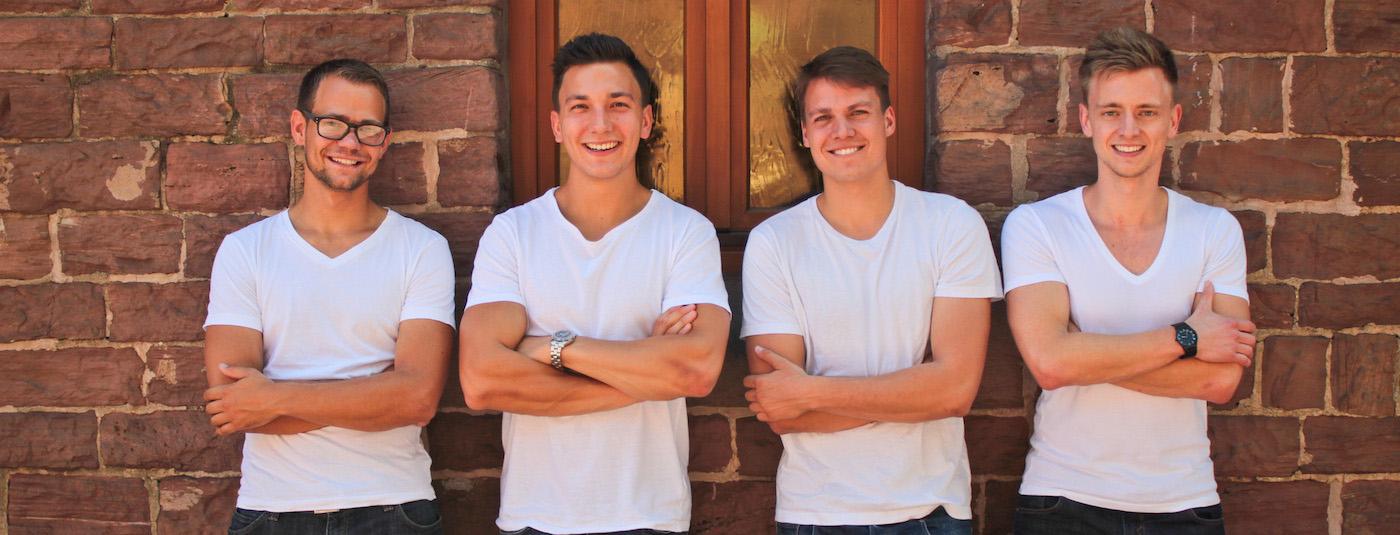 Geschäfte-Macher: Die vier Gründer von store2be aus Karlsruhe (Bild: store2be)