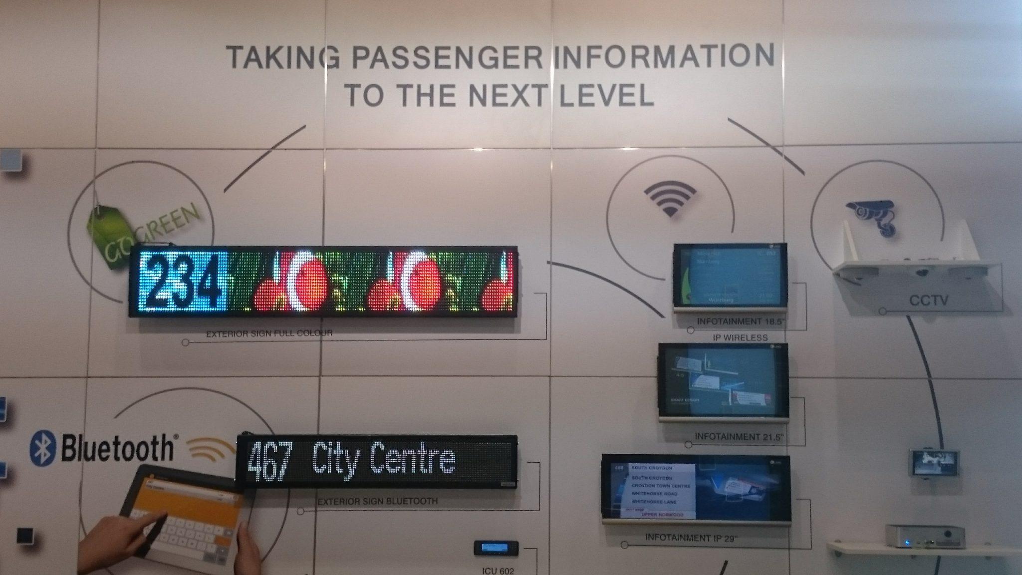 Verschiedene Anzeigensysteme auf der IT-Trans