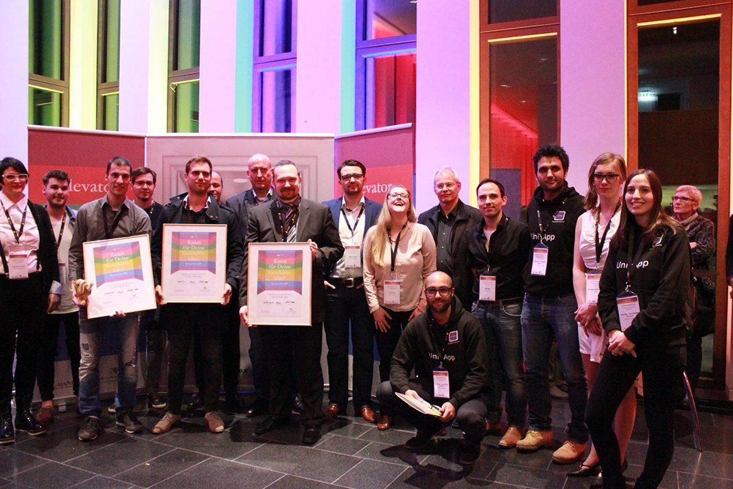 Gewinner des Elevator Pitch BW in Reutlingen