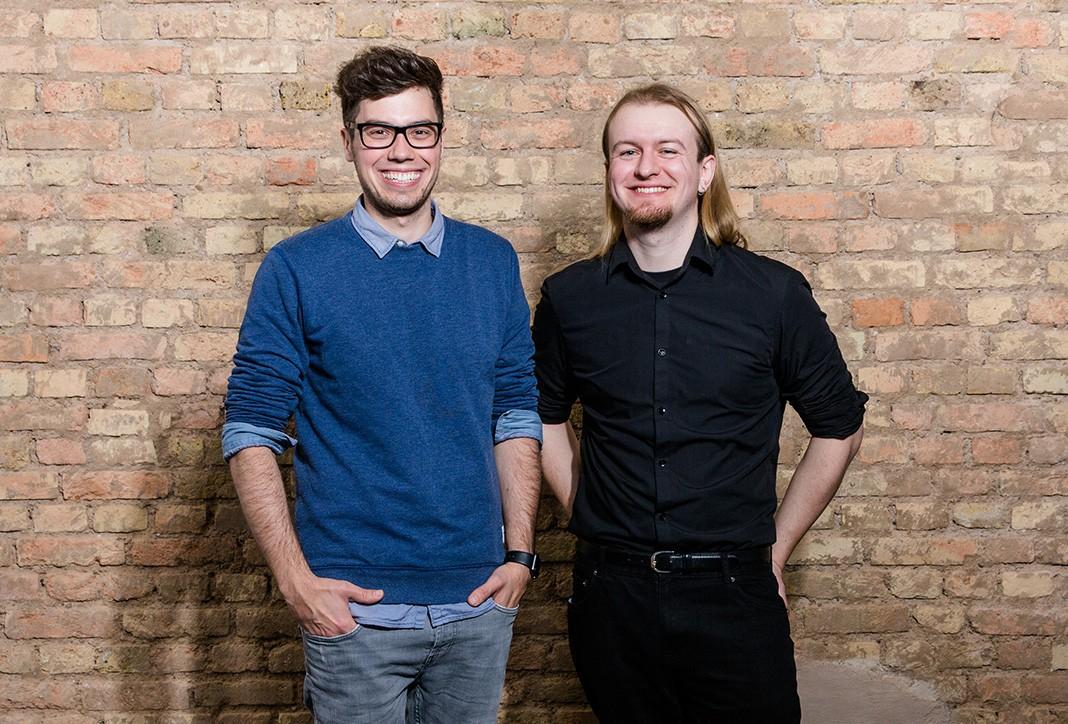 Die beiden Gründer von thangs Sammy Schuckert, David Paul
