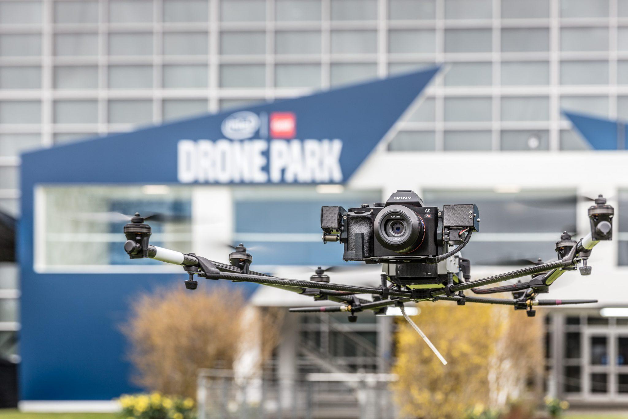 Intel CeBIT Drohnen Park