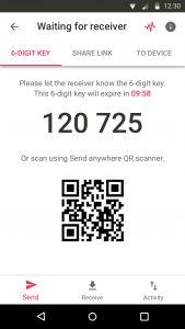 Send Anywhere bietet mit dem Zahlencode eine gewissen Sicherheit bei der Personalisierung.