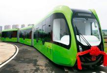 Der Autonomous Rail Rapid Transit, kurz ART, fährt in China ohne Schienen.
