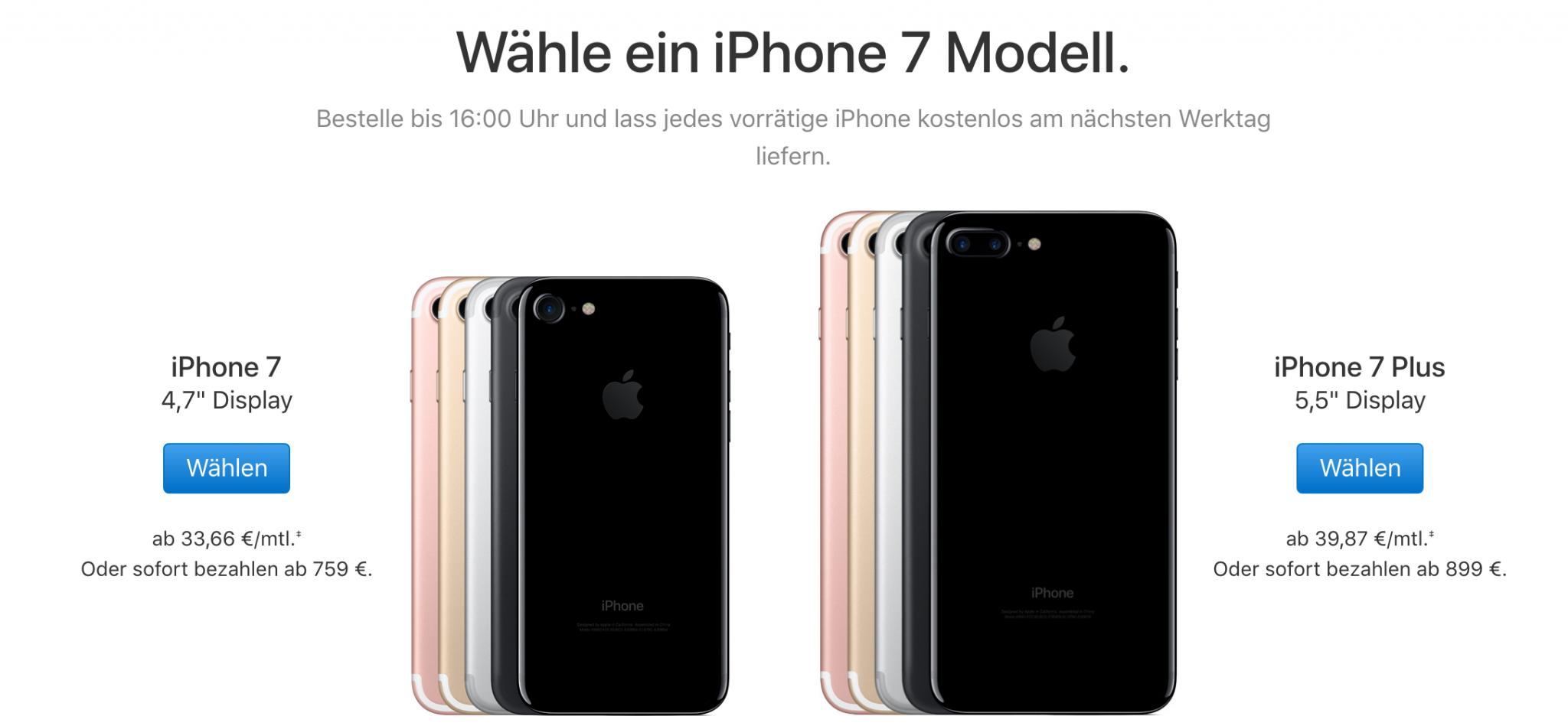 iPhone 7 Preise
