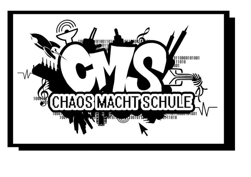 Chaos macht Schule Logo Tafel