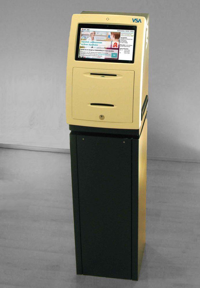 Das Terminal der Digitalen Rezeptsammelstelle überträgt in Sekundenschnelle ein eingegebenes Rezept an die zuständige Apotheke.