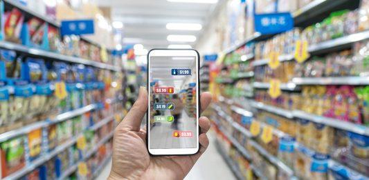 AR-App im Supermarkt